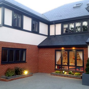 Black uPVC residential casement windows