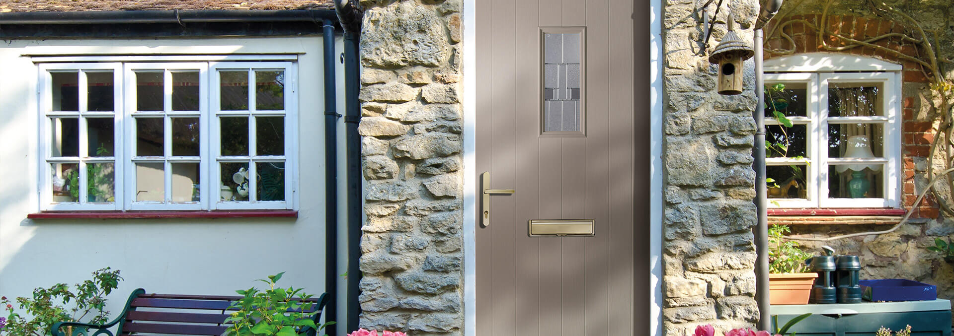Brown Composite door installation