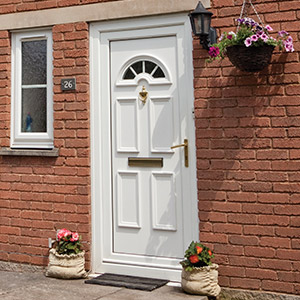 White uPVC entrance door