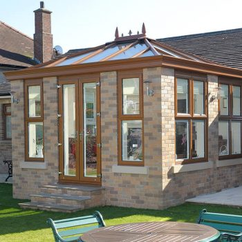 Golden oak uPVC Orangery and doors