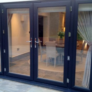 Anthracite grey uPVC french door