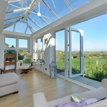 White uPVC LivinRoom Orangery interior