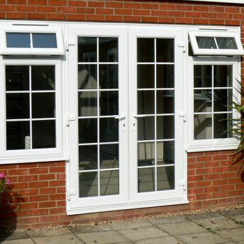 White uPVC Georgian french door
