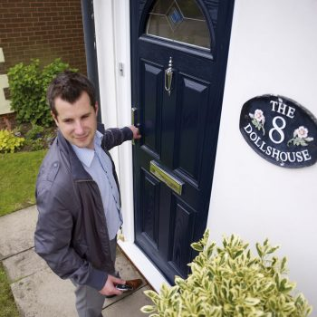 Composite entrance door with energy efficient core