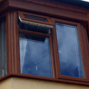 Brown replacement uPVC windows