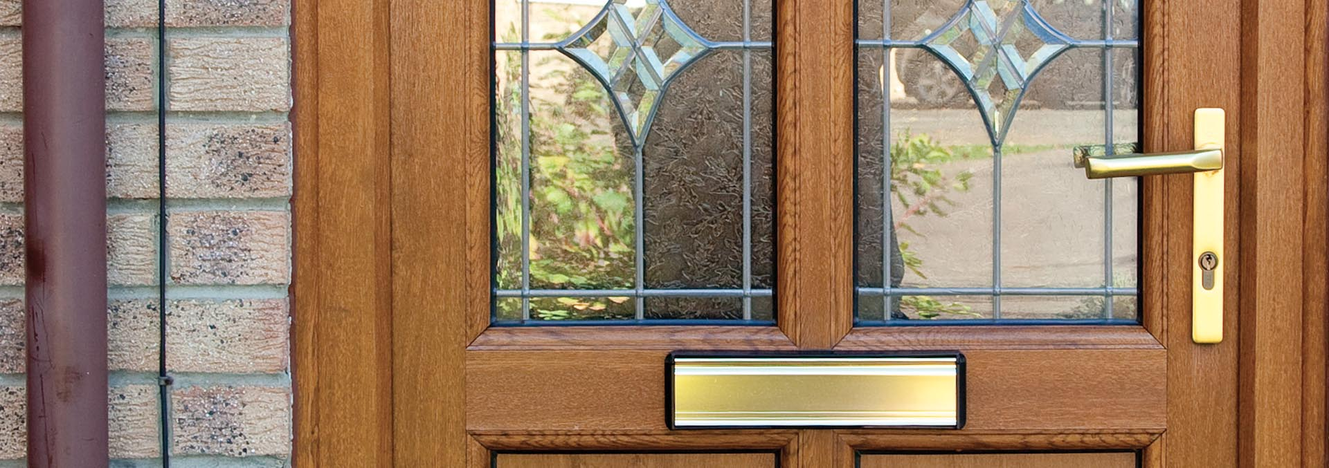 Brown uPVC entrance door