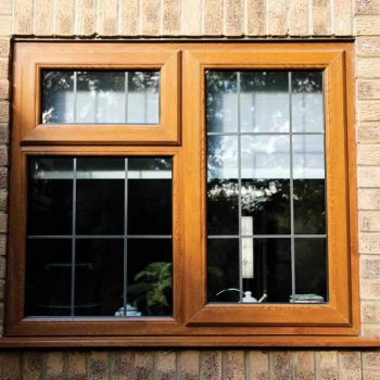 Brown uPVC windows