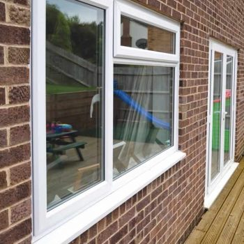 White casement double glazed windows