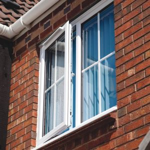 Double glazed upvc windows in white