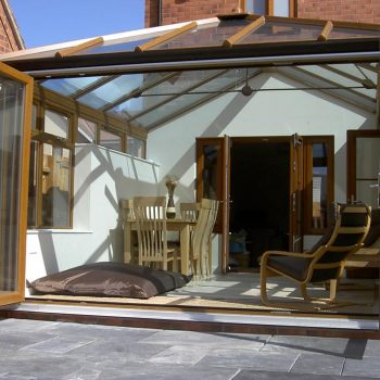 Edwardian conservatory in oak colour uPVC finish