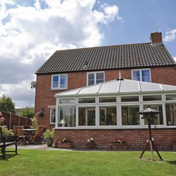 Edwardian style conservatory with brick base