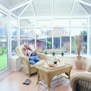 Edwardian style conservatory internal view