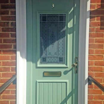 Chartwell green coloured uPVC front door