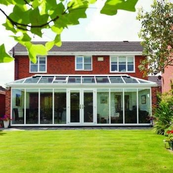 Large glass conservatory external view