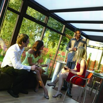 Lean to style conservatory in uPVC