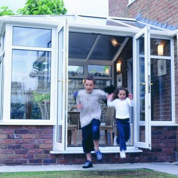Lean-to style pvcu conservatory in white