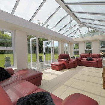 Livin room orangery installation internal view