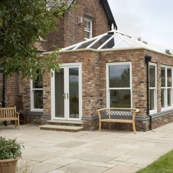 Orangery built using brick structure and uPVC glass roof