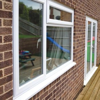 Standard white uPVC windows with top hung opener