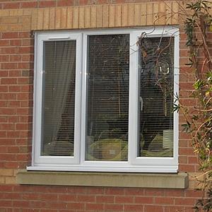 White uPVC casement windows