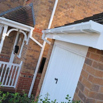 White uPVC guttering and soffits