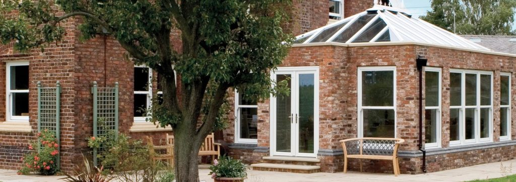 Red brick orangery extension