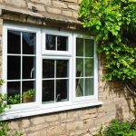 uPVC white casement window