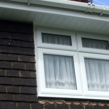 White casement windows installation
