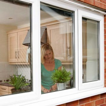New uPVC windows in white with two opening windows
