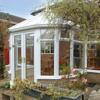 White victorian style conservatory fully installed by Smiths