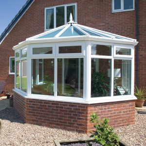Victorian conservatory with glass roof