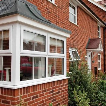 White uPVC Duraflex bay window