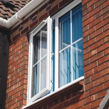 White uPVC casement Windows