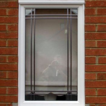 Replacement double glazed window with lead detail