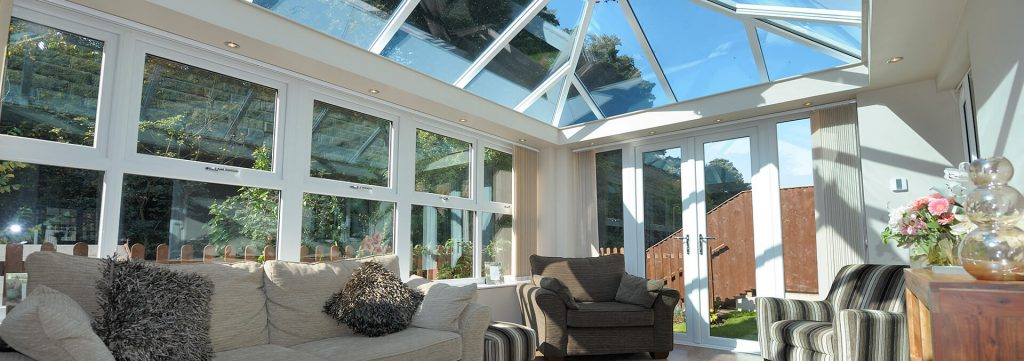 White uPVC orangery interior