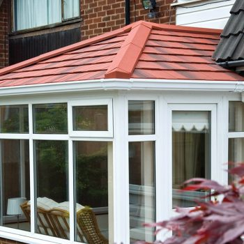 Red tiled warmroof on a uPVC conservatory