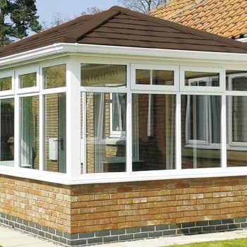 Conservatory with tiled replacement roof